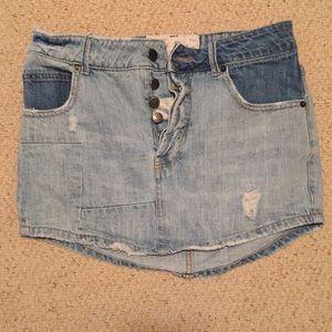 Free people mini jean skirt